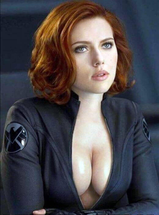 Natasha Romanoff sexy cleavage photo
