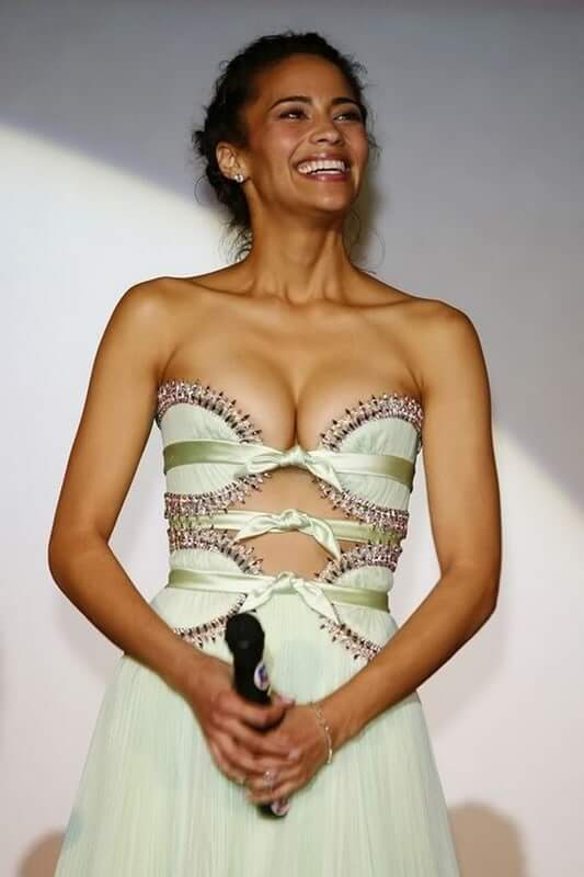Paula Patton hot cleavage