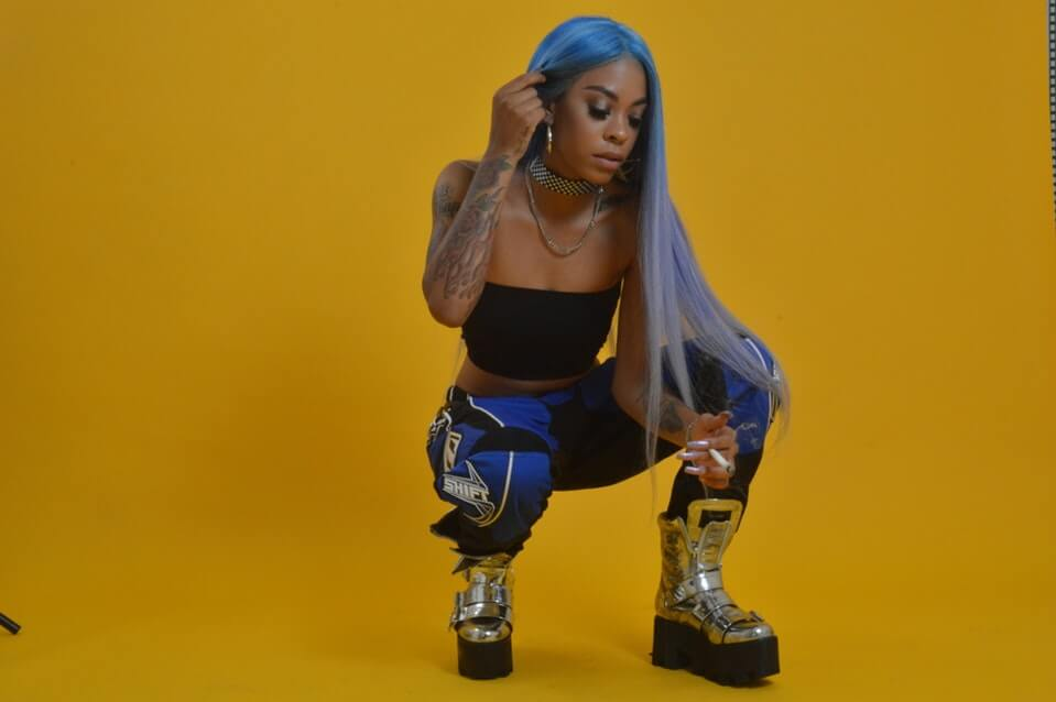 Rico Nasty sexy cleavage picture