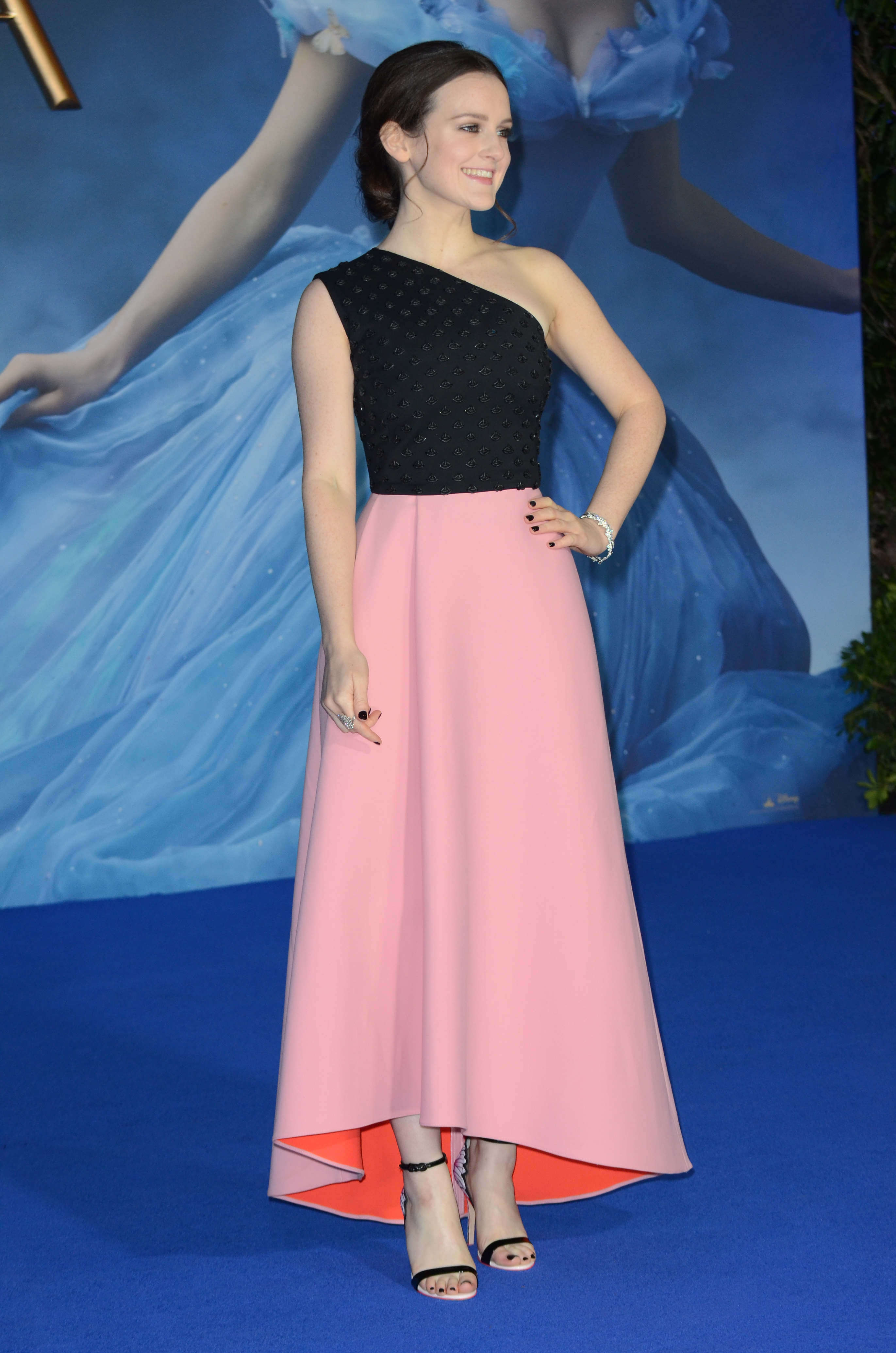 Sophie McShera hot long dress
