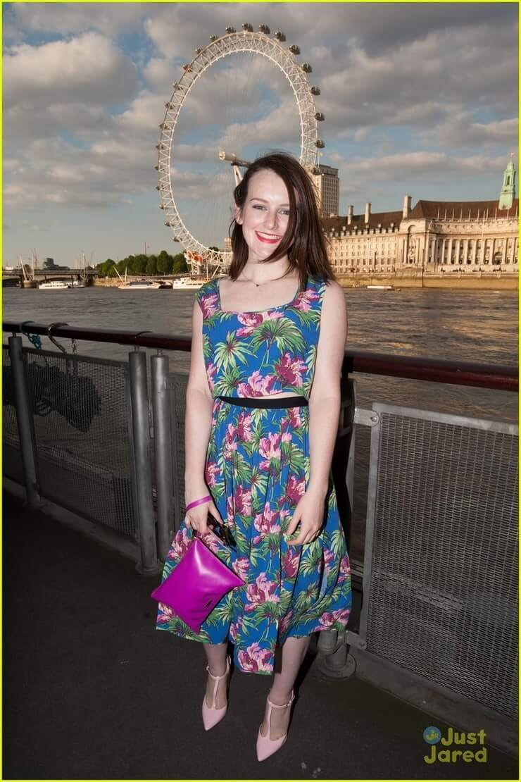 Sophie McShera long dress