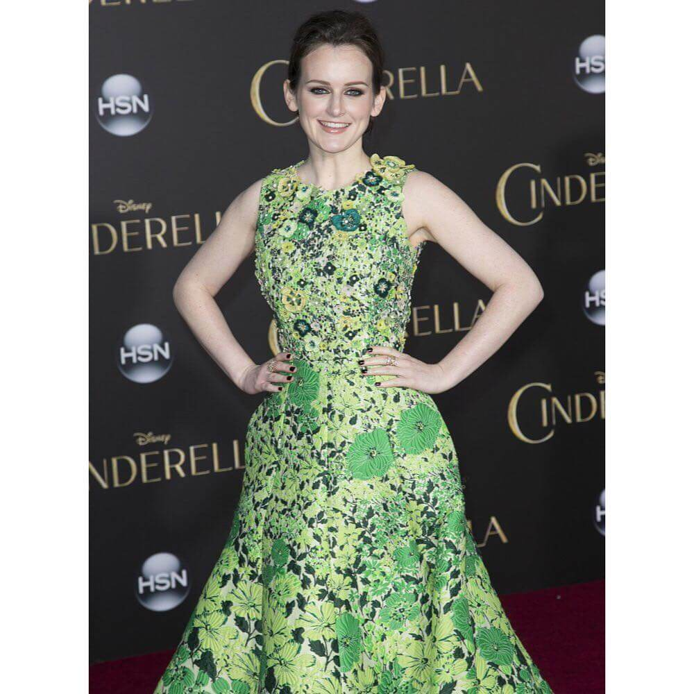 Sophie McShera long green dress pic