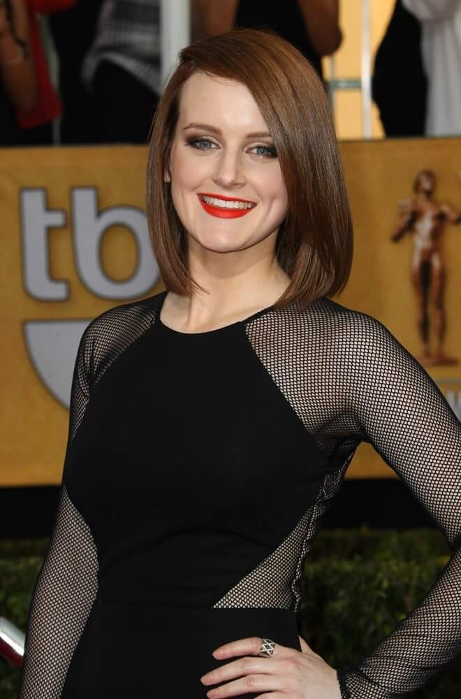Sophie McShera sexy black dress