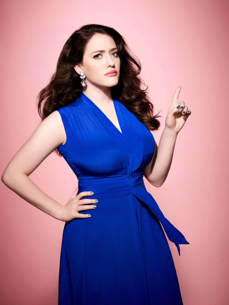 kat dennings sexy blue dress