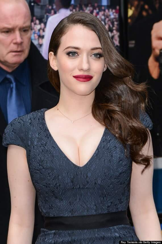kat dennings sexy red lips