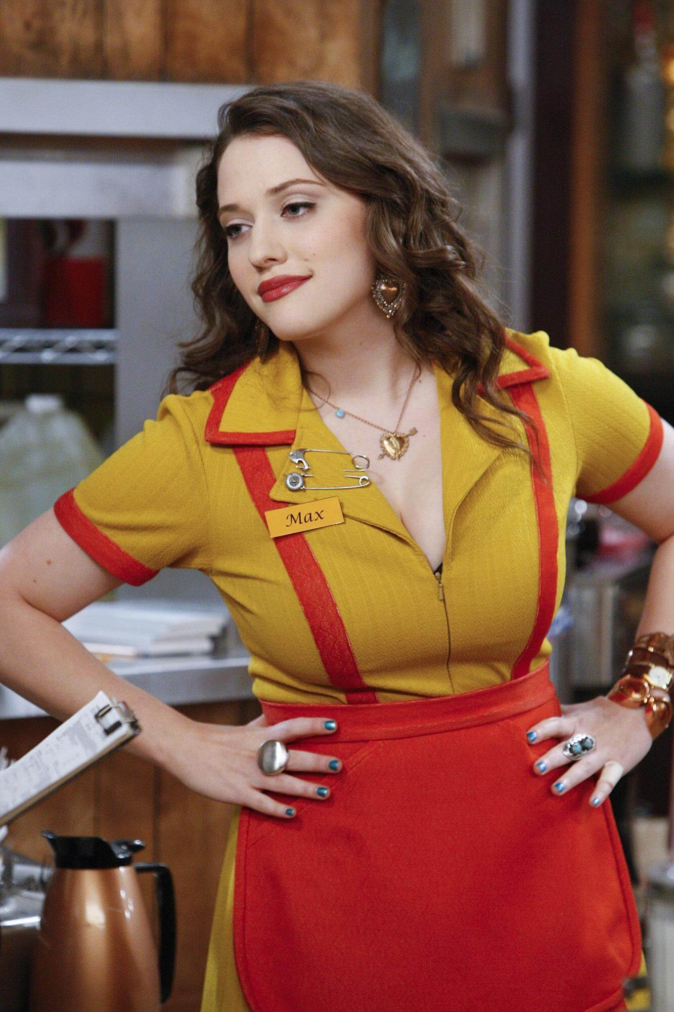 kat dennings tite yellow dress