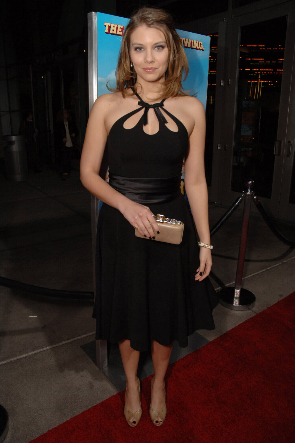 lauren cohan black dress pic