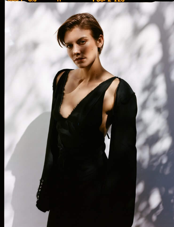 lauren cohan hot black look