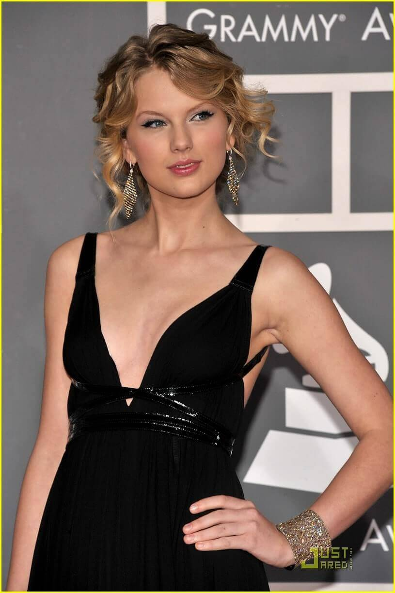 taylor swift hot black dress
