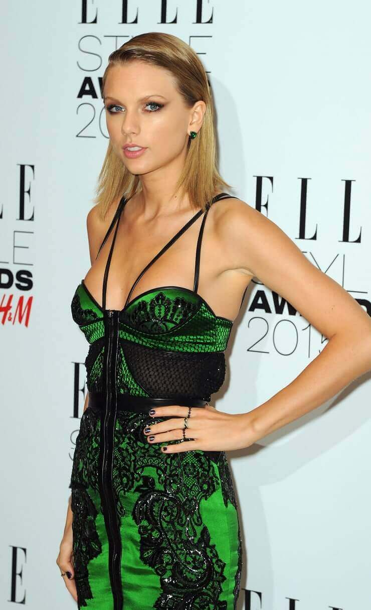 taylor swift sexy green dress
