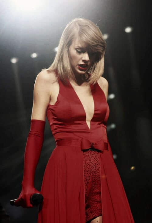 taylor swift sexy red dress