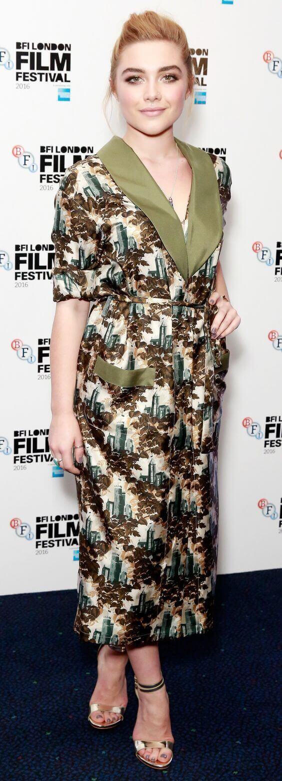 Florence Pugh long dress pics