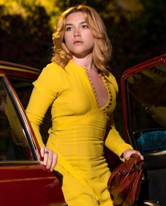 Florence Pugh yellow dress pic