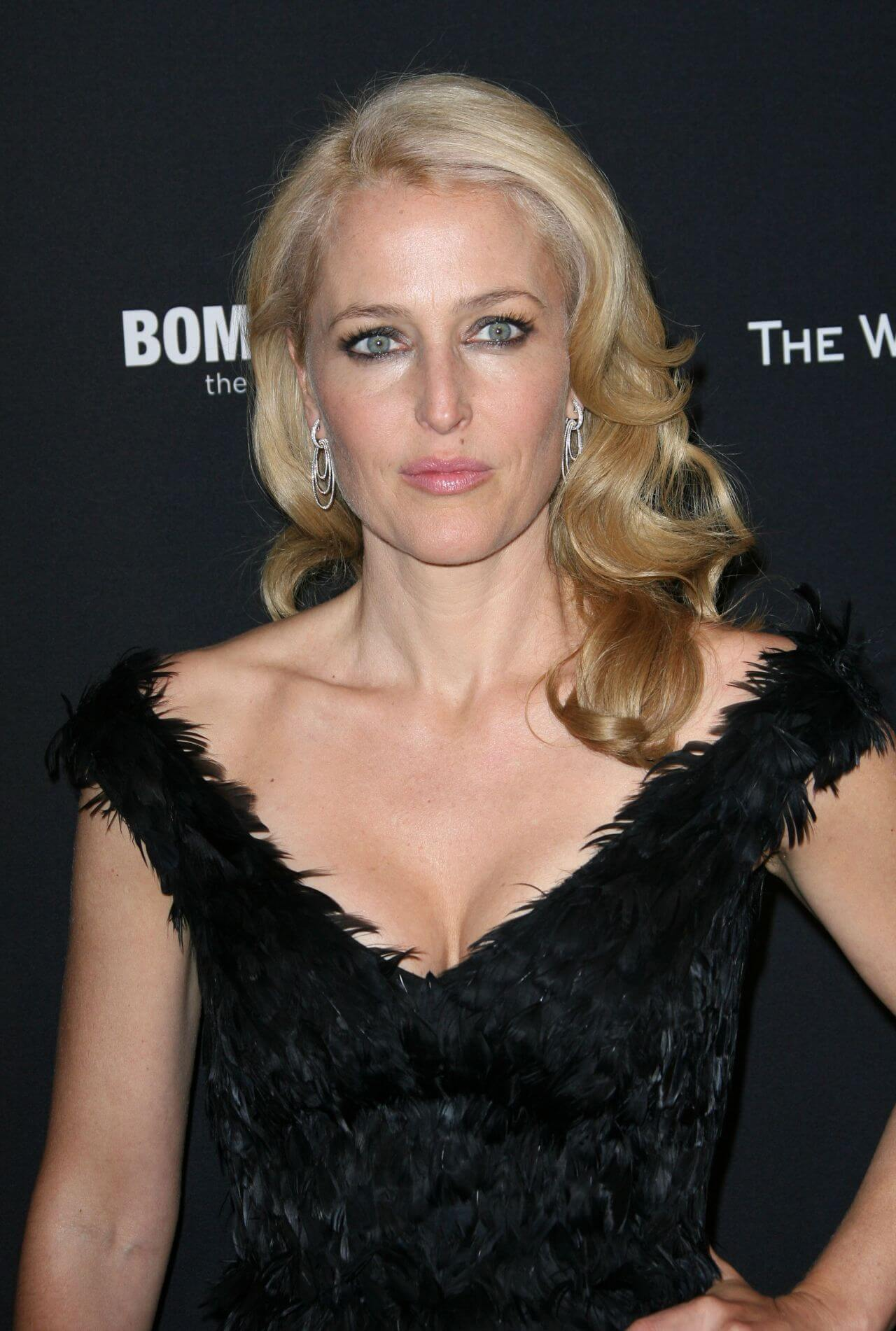 Gillian Anderson hot cleavage pics (3)