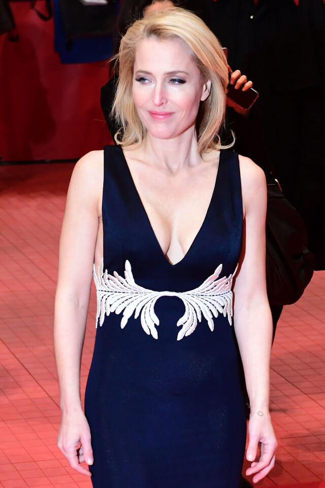 Gillian Anderson hot cleavage pictures (3)
