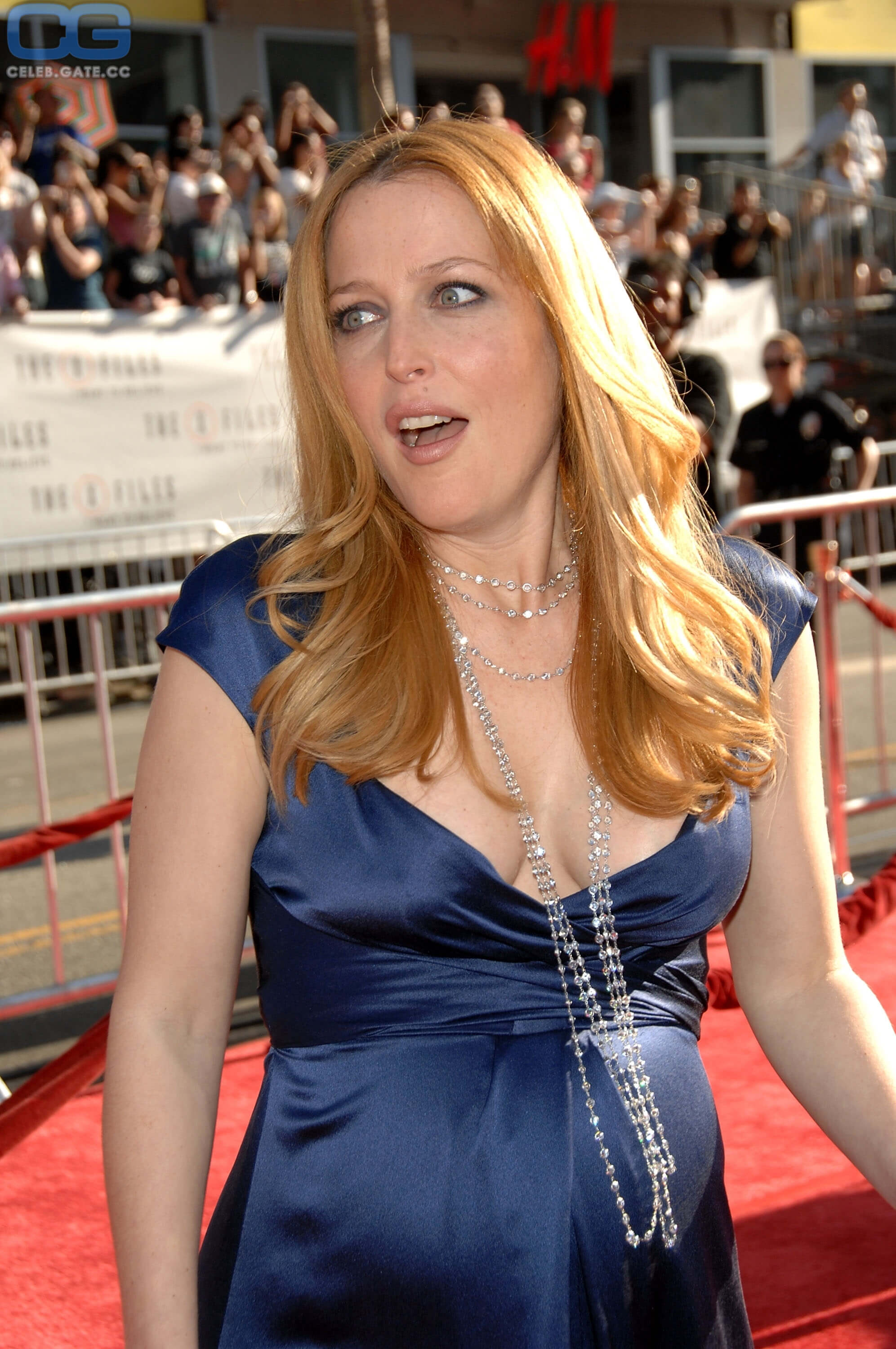 Gillian Anderson sexy cleavage pictures (1)