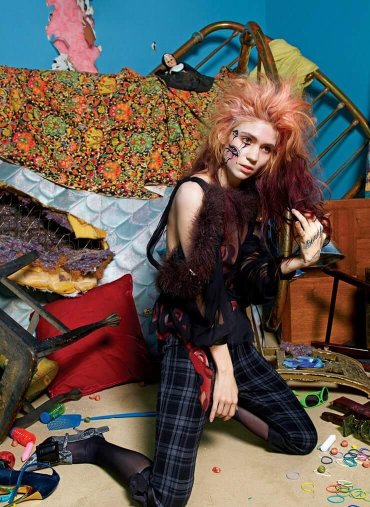 Grimes sexy side photo