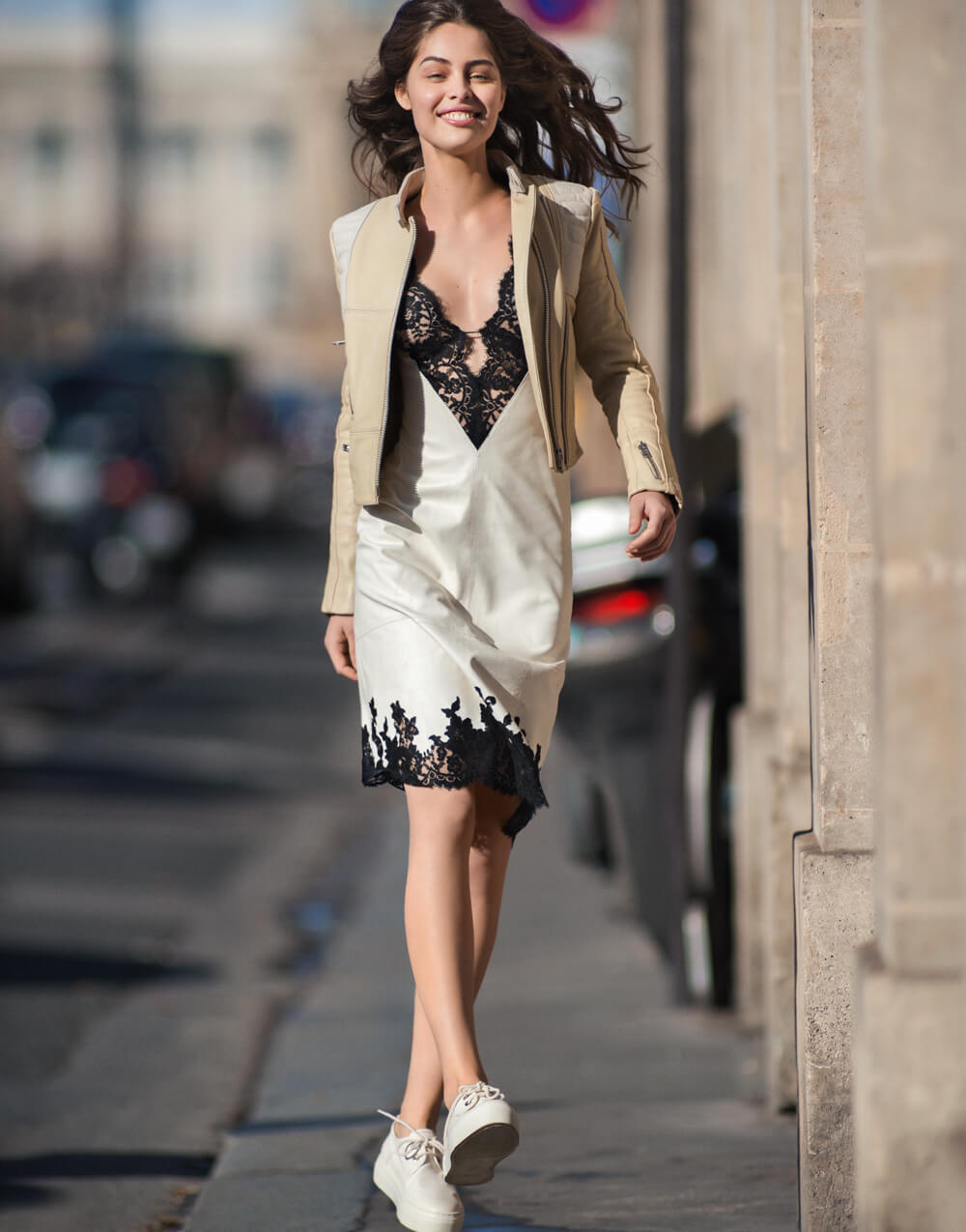 Marie-Ange Casta hot legs pictures
