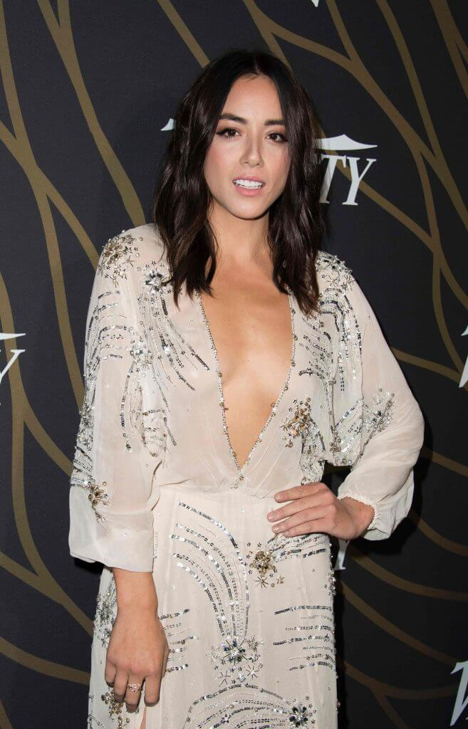 chloe bennet sexy cleavage pic