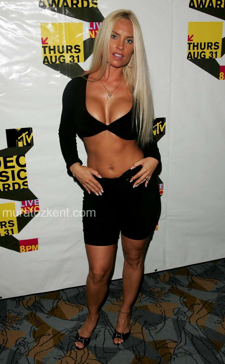 coco austin hot black dress