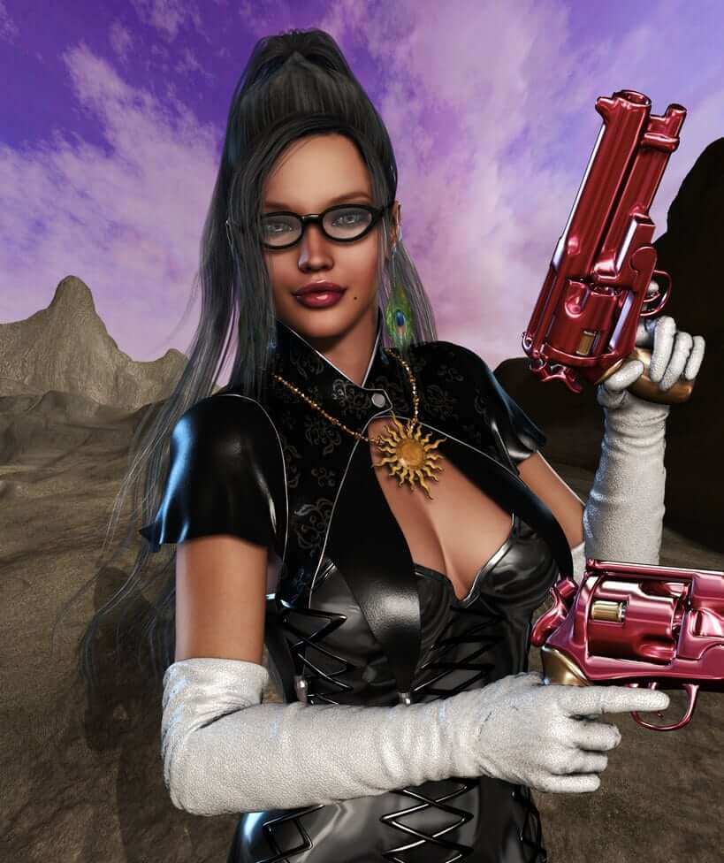 Bayonetta-on-Witchler-Cosplay
