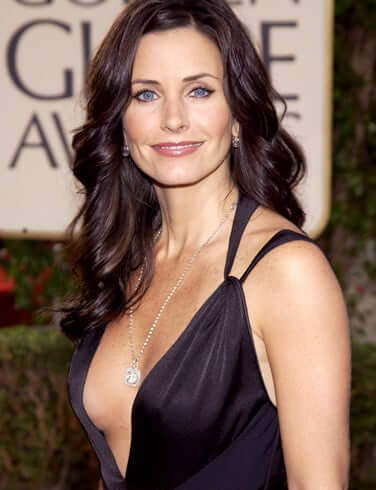 Courteney Cox sexy cleavage