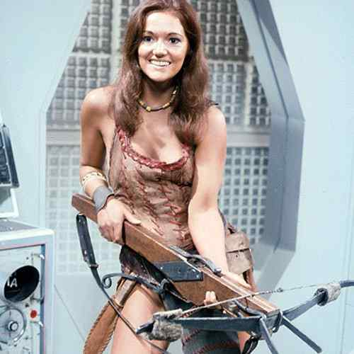 Louise Jameson cleavage