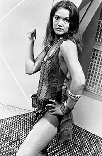 Louise Jameson thighs
