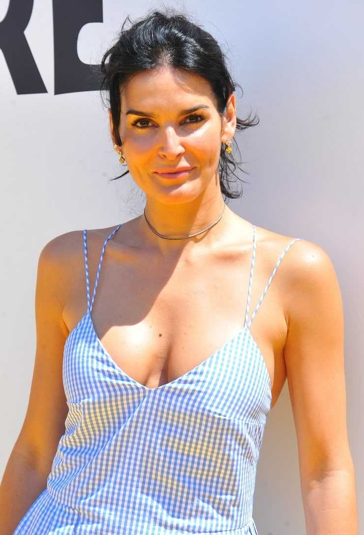 Angie Harmon sexy cleavage pictures