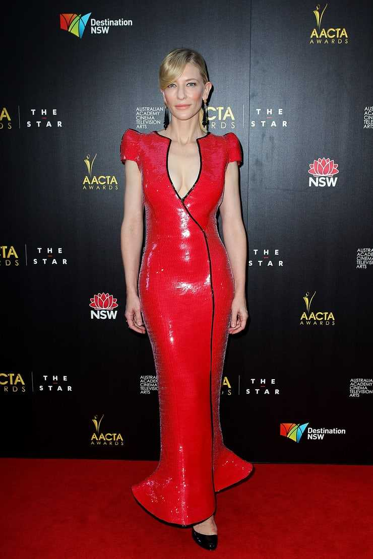 Cate Blanchett sexy red dress pictures