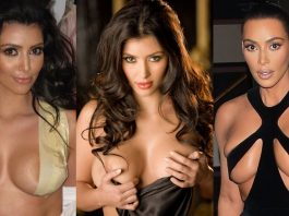 61 Sexy Kim Kardashian Boobs Pictures Will Make You Drool For Her