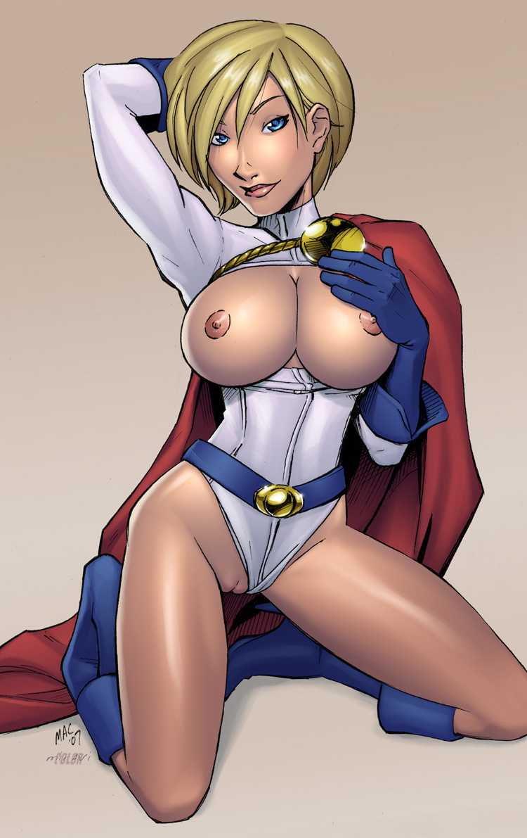 Power girl naked cosplay