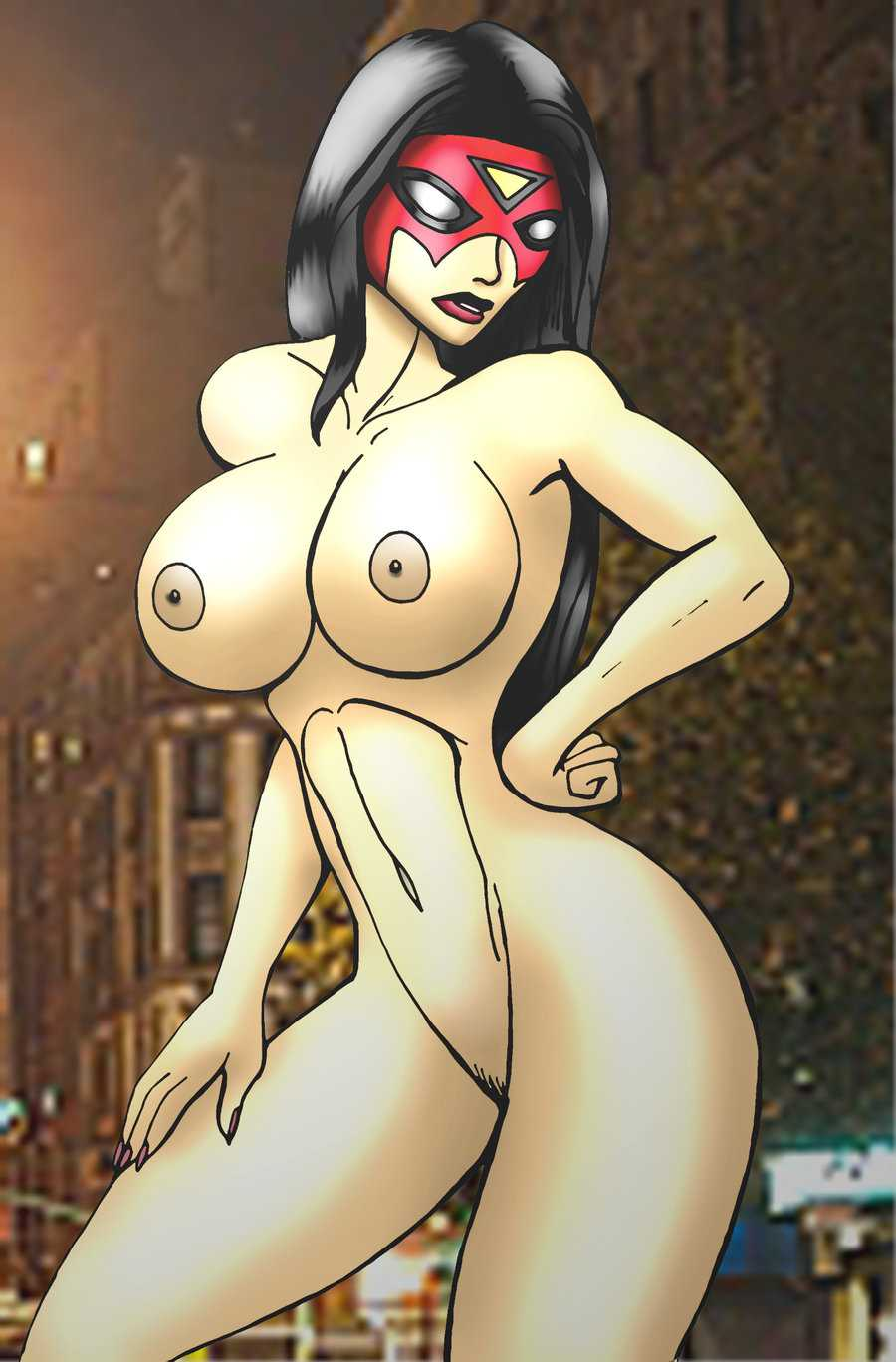 Spider-Woman (Jessica Drew) naked