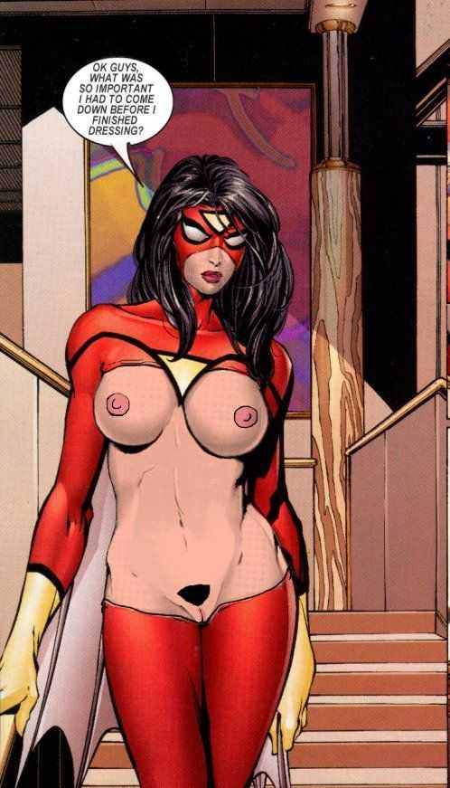 Spider-Woman (Jessica Drew) nipples