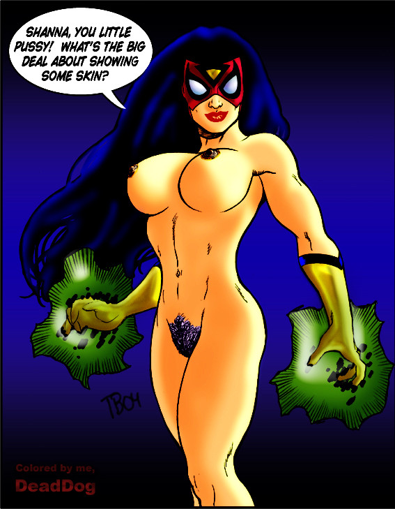 Spider-Woman (Jessica Drew) topless