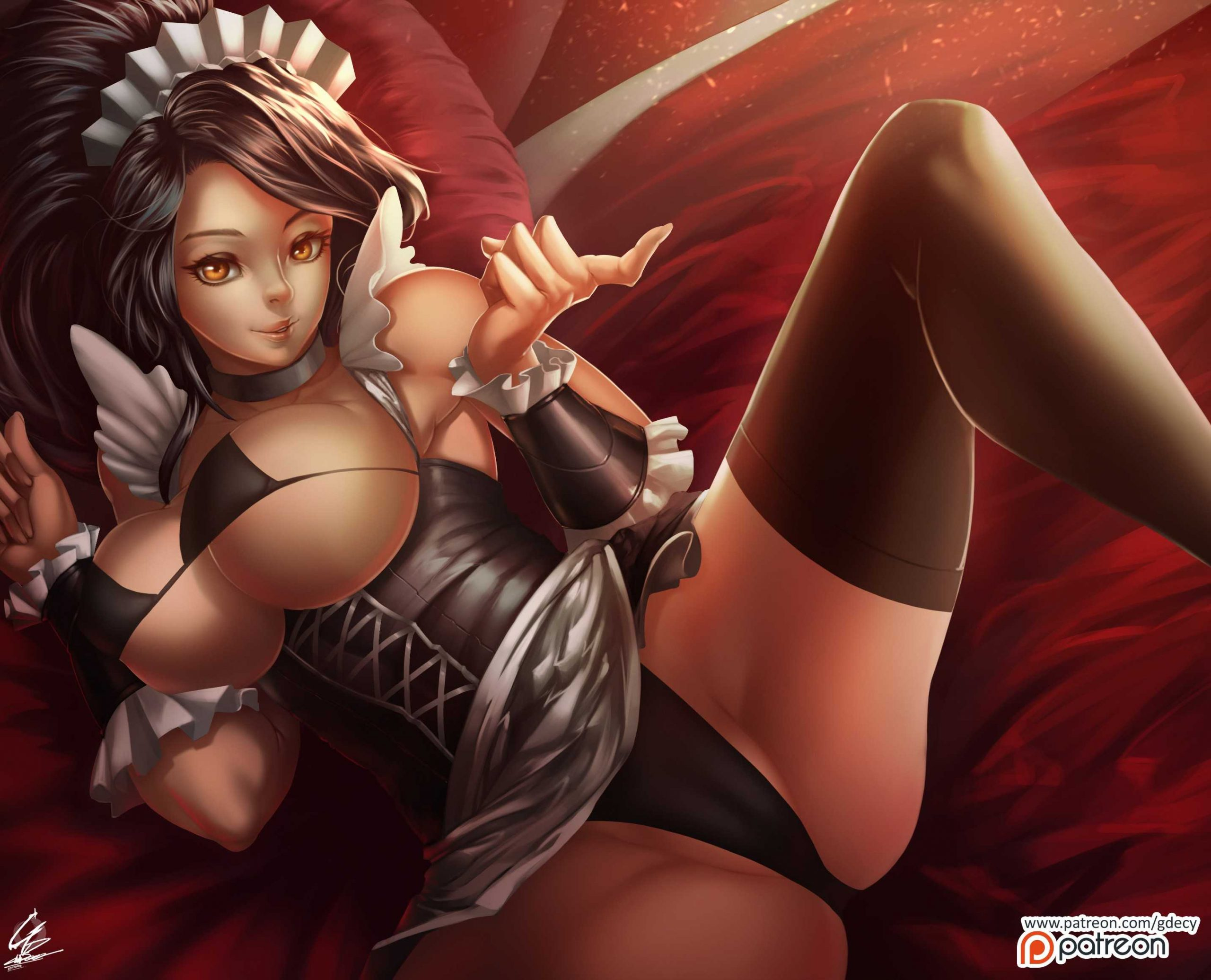 French Maid Nidalee - League Of Legends