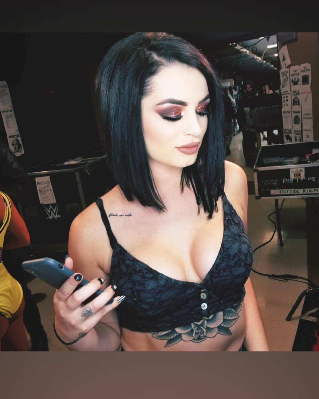 Paige sexy cleavage pics
