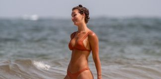 Rachel shows off her perfectly Sculpted body as she visits a beach in Tulum, Mexico