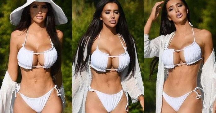 Chloe Khan Looks Enthralling In White Bikini