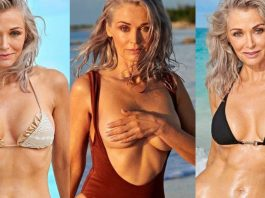Kathy Jacobs Poses Topless On The Beach