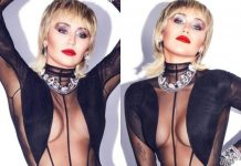 Miley Cyrus Poses In Bodysuit