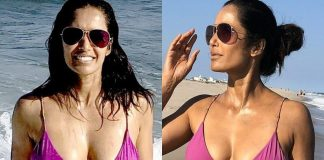 Padma Lakshmi Celebrates Birthday In String Bikini