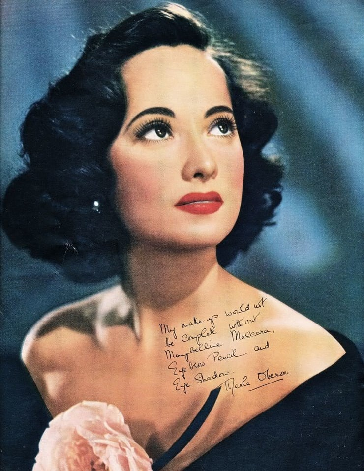 merle oberon red lips