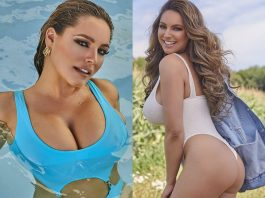 Kelly Brook Poses For Her 2021 Calendar