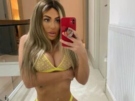 Chloe Ferry Puts On A Yellow See-through Bikini As She Announces A Giveaway
